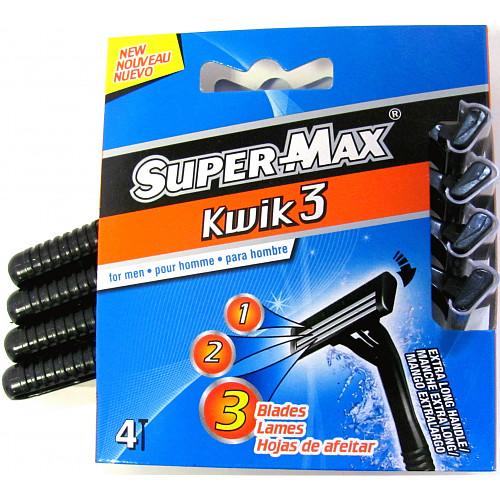 Super-Max Kwik3 4 Razors for Men