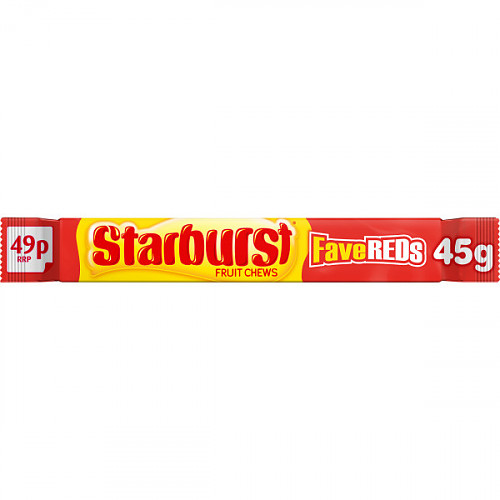 Starburst Fruit Chews FaveReds 45g