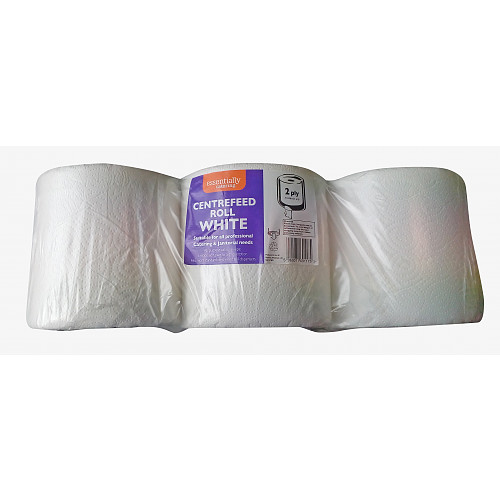 White Centrefeed Rolls 2ply 110M