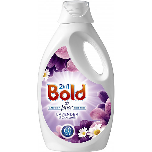 Bold 2in1 Washing Liquid Lavender & Camomile 3L 60 Washes