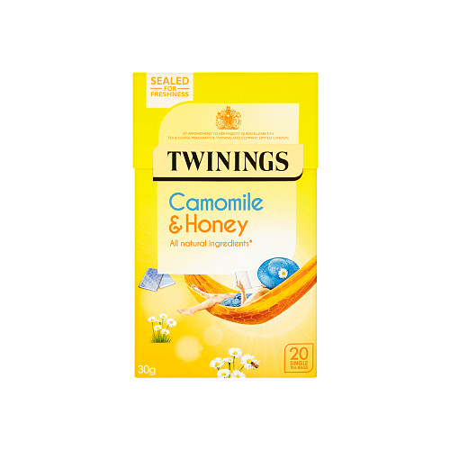 Twinings Camomile & Honey 20 Single Tea Bags 30g