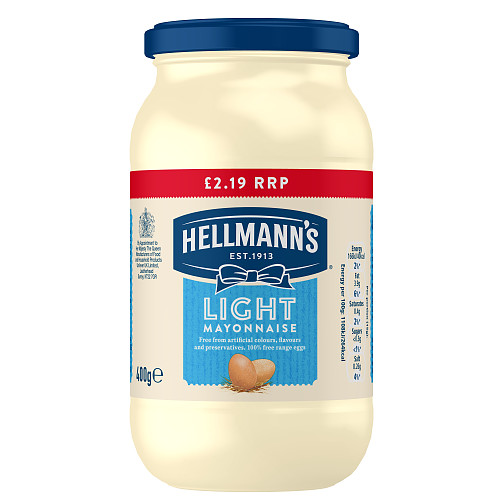 Hellmanns Light Mayonnaise PM £2.19