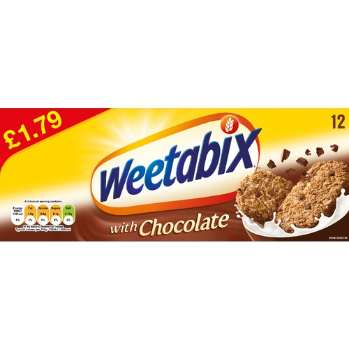 Weetabix with Chocolate 12 Biscuits Pricemarked £1.79