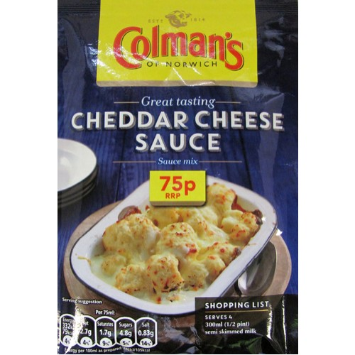 Colmans Sauce Pour Over Cheese PM 75p