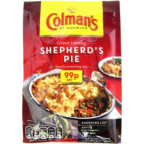 Colmans Casseroles Shepherds Pie PM 99p