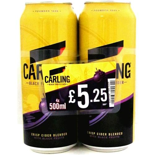 Carling Black Fruits Cider 500ml