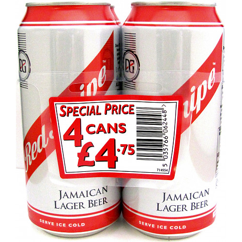 Red Stripe 4 Pack PM £4.75