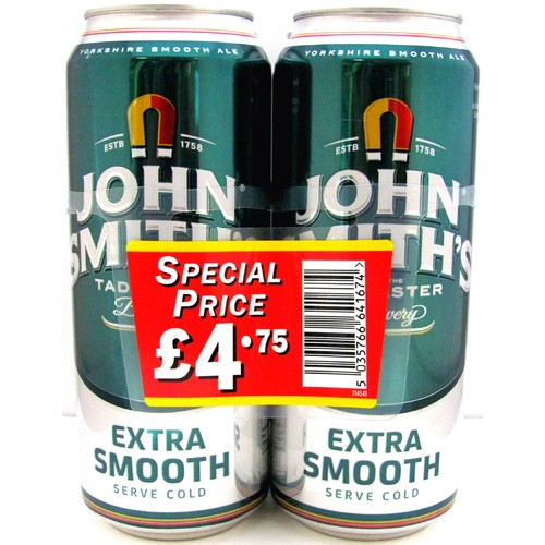 John Smiths Extra Smooth 4 Pack PM £4.75