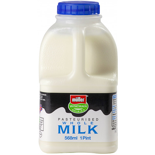 Müller Wiseman Dairies Pasteurised Whole Milk 1 Pint/568ml