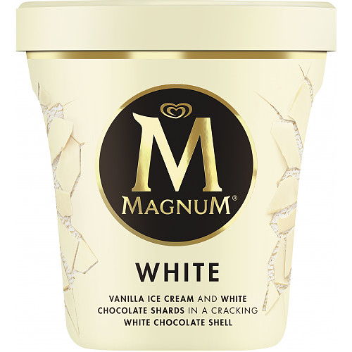 Magnum Tub White Ice Cream 440ml