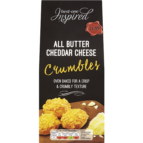Best-One Inspired All Butter Cheddar Cheese Crumbles 75g