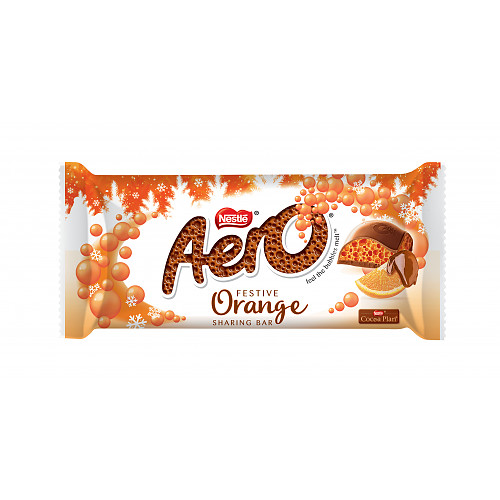 Aero Chocolate Orange Christmas Chocolate Bar 90g