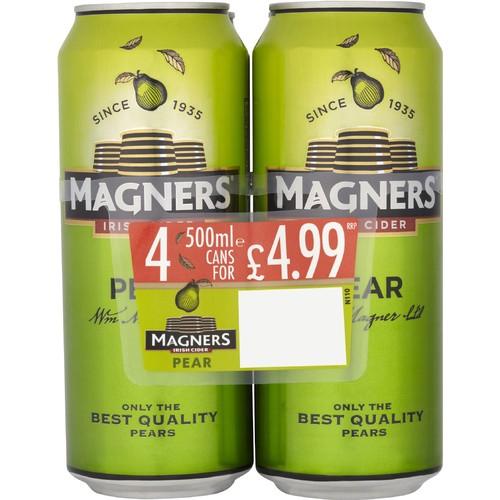 Magners Pear Irish Cider 4 x 500ml