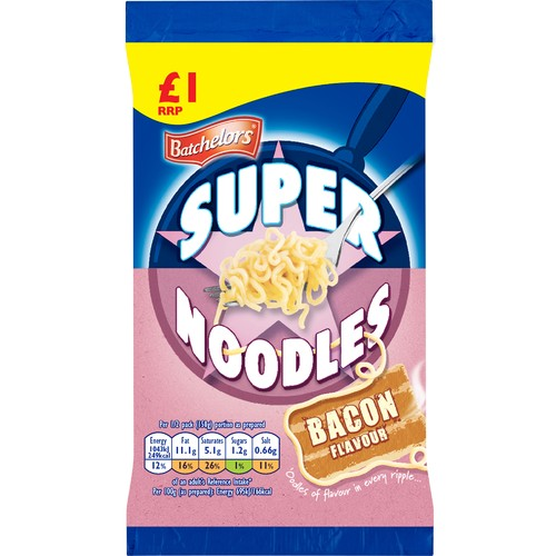 Batchelors Super Noodles Bacon PM £1