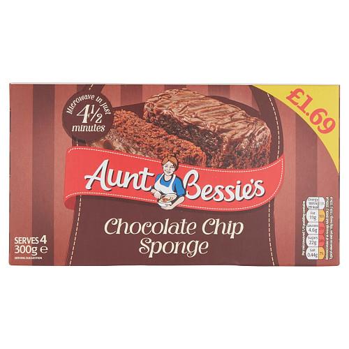 Aunt Bessie's Chocolate Chip Sponge 300g