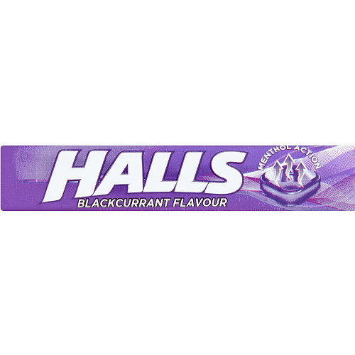 Halls Blackcurrant Menthol Action Sweets 33.5g