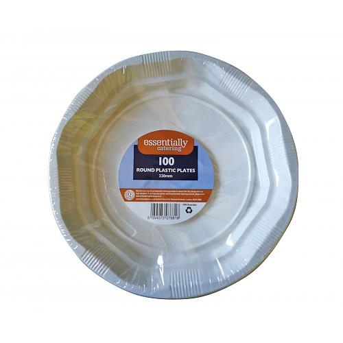 Essential Catering Plastic Plates 16.5cm