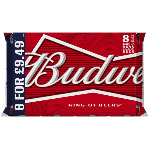 Budweiser 4.5% Abv 8 Pack PM £9.49