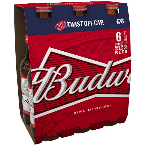 Budweiser 4.5% 6 Pack PM £6.00