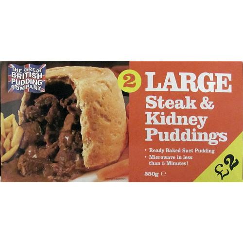 Glendale 2 Steak & Kidney Puddings PM £2