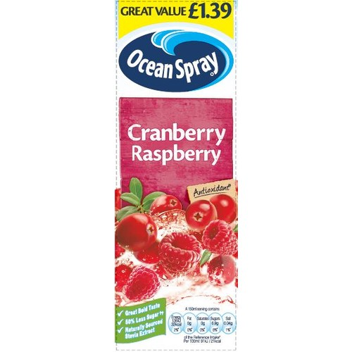 Ocean Spray Cranberry Raspberry 1 Litre