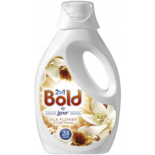 Bold 2in1 Washing Liquid Silk Flower& Freesia 1.2L 24 Washes