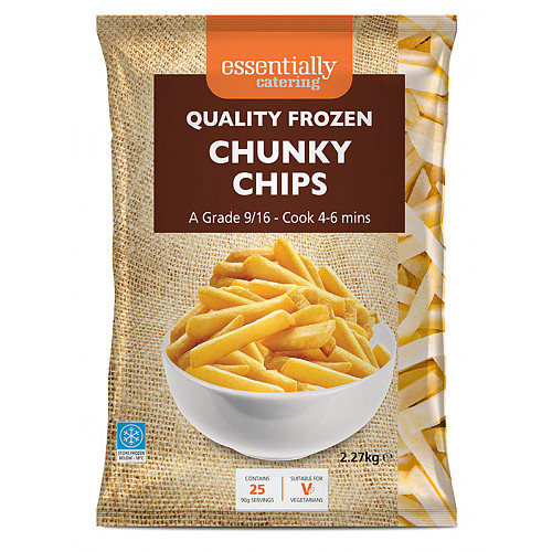 Essential Catering Chunky Chips 9/16