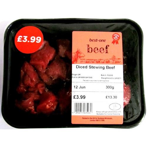 Best One Stewing Steak Diced PM £3.99