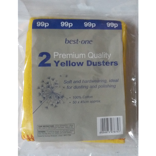Bestone Premium Yellow Dusters PM 99p