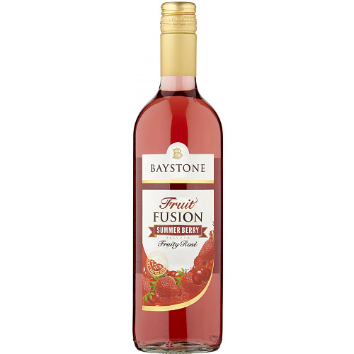 Baystone Fruit Fusion Summer Berry Flavour Fruity Rosé 75cl