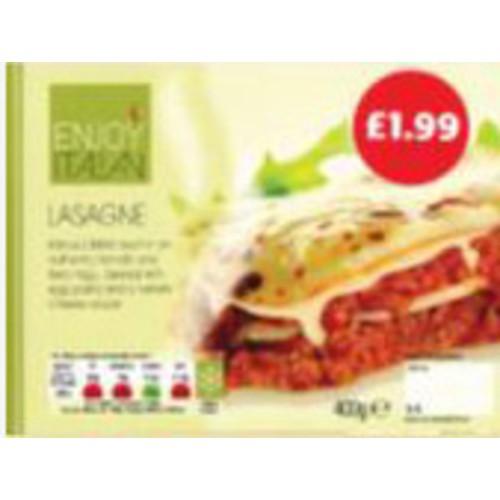 Enjoy Beef Lasagne PM £1.99