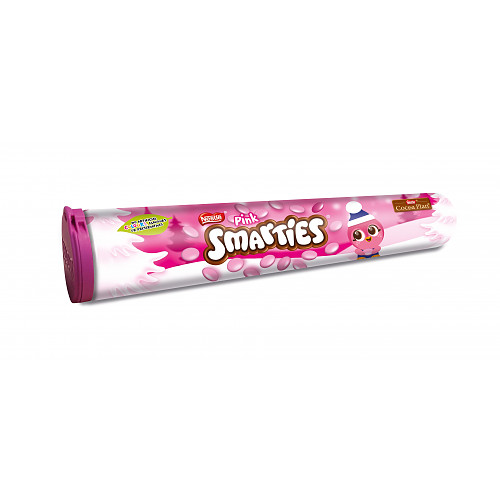 SMARTIES Pink Milk Chocolate Giant Tube 130g
