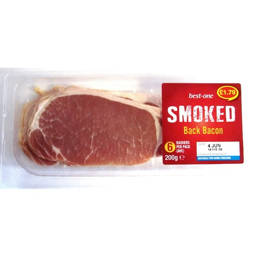 Bestone Smoked Back Bacon PM £1.79