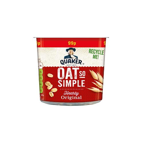 Quaker Oat So Simple Original Porridge Pots 8x45g
