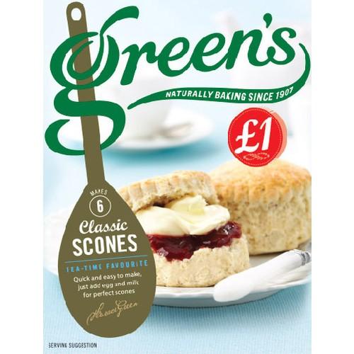 Greens Classic Scones PM £1