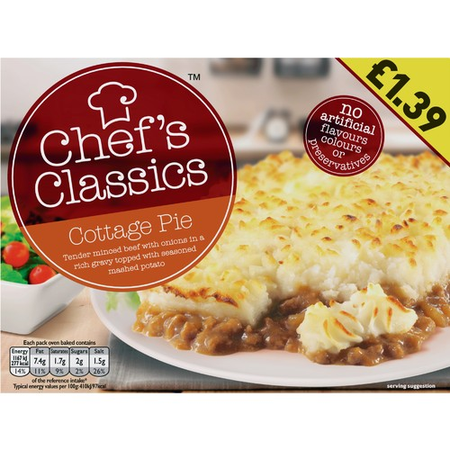 Chef's Classic Cottage Pie PM £1.39