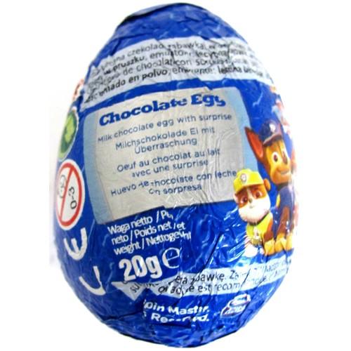 Paw Patrol Chocolate Egg 20g