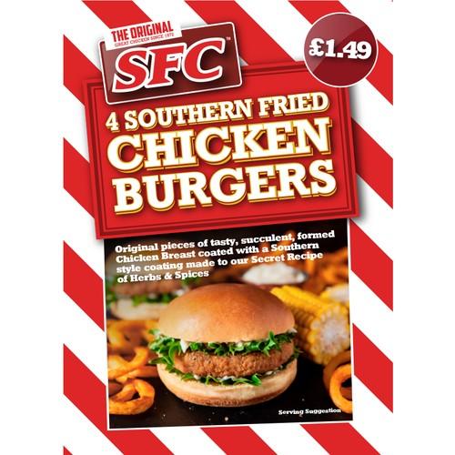 Sfc Chicken Burger PM £1.49
