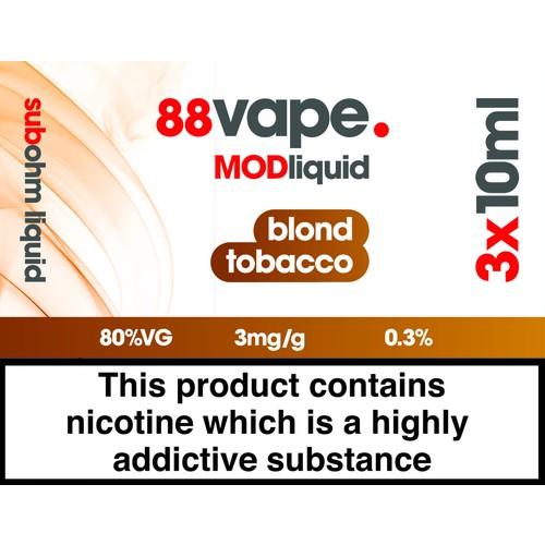 88Vape Mod Blond Tobacco 3Mg