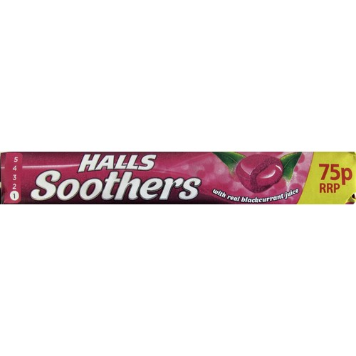 Halls Soothers Cough Drops Blackcurrant PM 75p