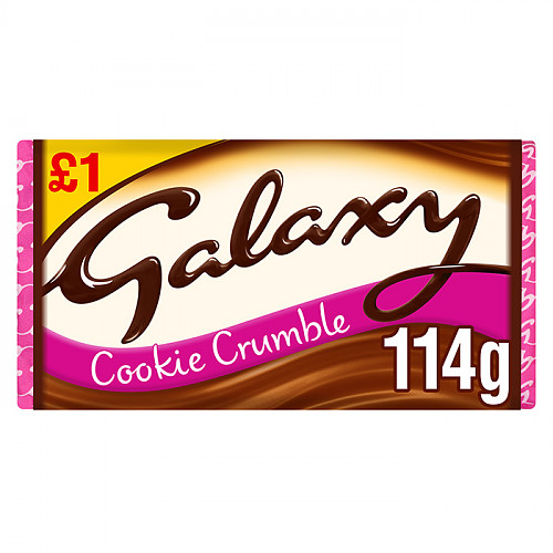 Galaxy Cookie Crumble Chocolate Block 114g