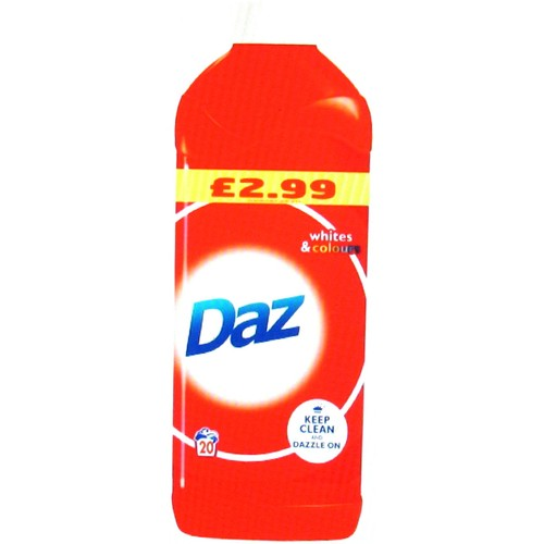 Daz Washing Liquid Regular Dazzling Whites 1L 20 Washes
