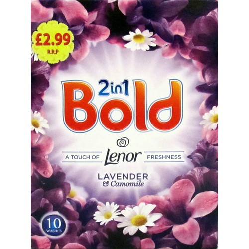 Bold 2 in 1 Washing Powder Lavender& Camomile PMP 650g 10 Washes