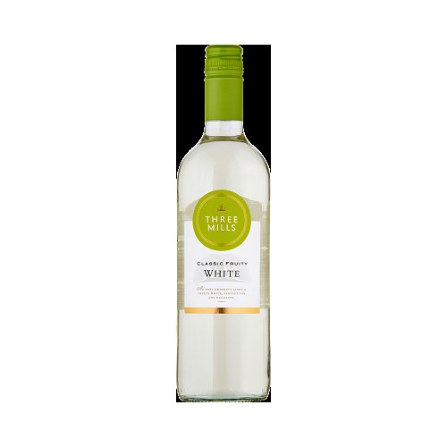 Three Mills Classic Fruity White Wine 75cl