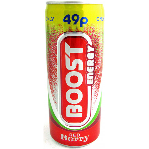 Boost Energy Red Berry 250ml