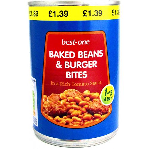 Bestone Burger Bites & Beans PM £1.39