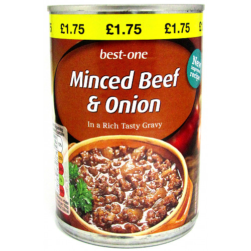 Best-One Minced Beef & Onion in a Rich Tasty Gravy 390g