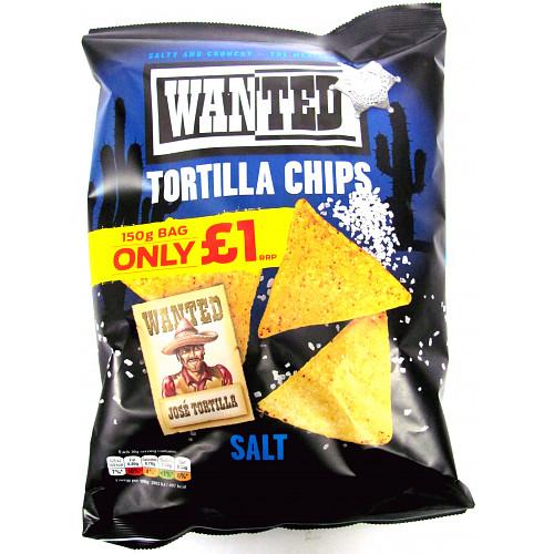 Wanted Tortilla Chips Salt PM £1