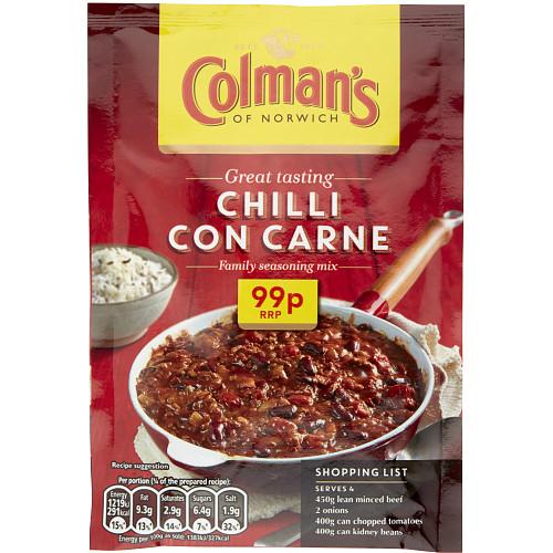 Colmans Cass Chilli Carne PM 99p