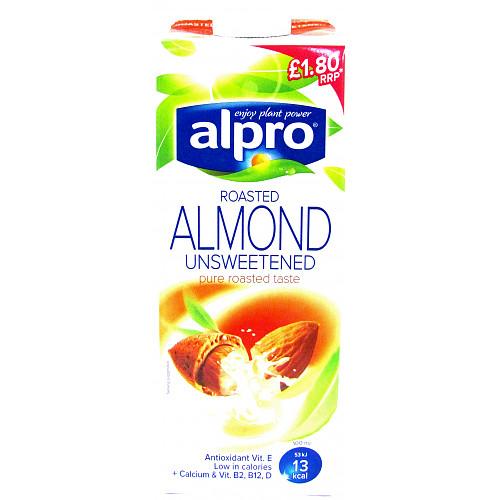 Alpro Unsweetened Roasted Almond U.H.T. 1L